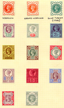 stamp images on yellow background